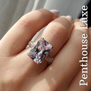 Amethyst White Sapphire Sterling Ring